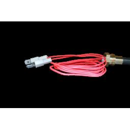 Vue gauche bougie (électrode ou résistance) d'allumage pour vos poêles RED by MCZ