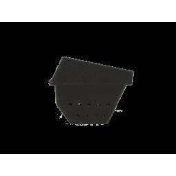 Vue de côté Brasero (appelé aussi panier perforé, creuset, cendrier, pot de combustion ) en fonte pour vos poêles RED by MCZ
