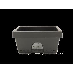 Vue face Brasero (appelé aussi panier perforé, creuset, cendrier, pot de combustion ) en fonte pour vos poêles RED by MCZ